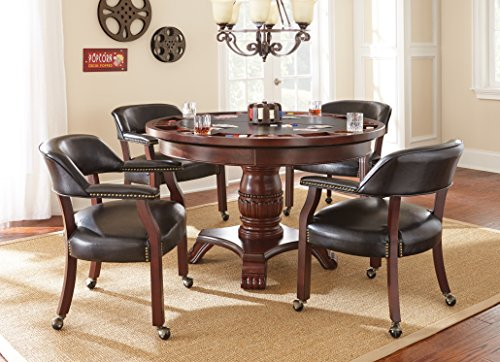 Steve Silver Company Tournament Dining & Game Table, Black