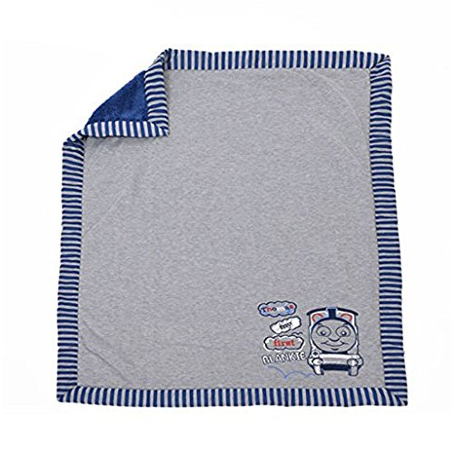 Mattel Thomas and Friends Jersey Knit and Sherpa Baby Blanket - My First Blankie 40 x 50 Inch