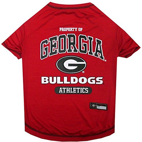 NCAA Georgia Bulldogs Dog T-Shirt, X-Large