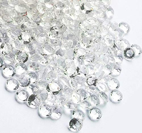 iFavor123 1600PCS Clear 10mm Diamond Table Confetti Acrylic Crystals Quinceañera Wedding Bridal Showers Party Decorations Vase Fillers Table Scatter]()