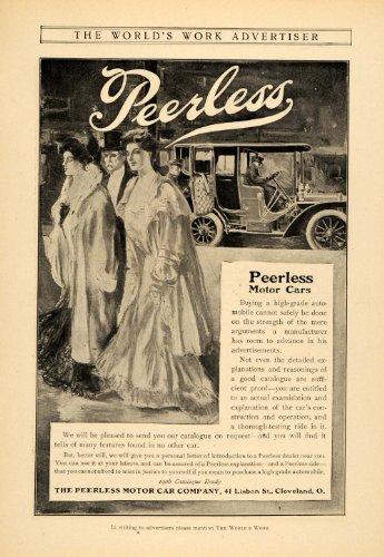 1905 Ad Peerless Antique Motor Cars 41 Lisbon St. Ohio - Original Print Ad