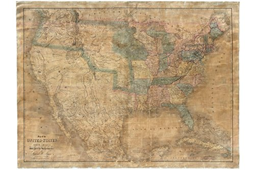 1839 Map (United States; 1839 Burr Map; Only Survivng Example of Jedediah Smith Map)