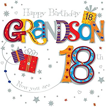 Grandson 18th Birthday Card...