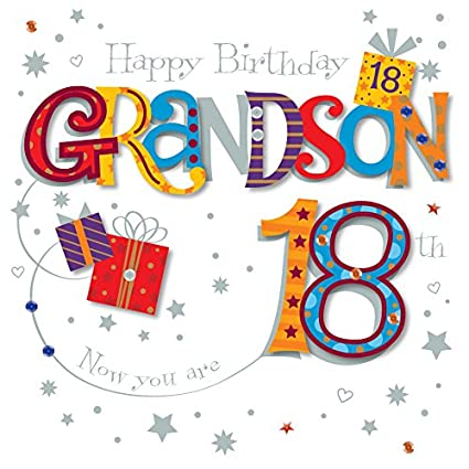 Grandson 18th Birthday Greeting Card By Talking Pictures Greetings Cards Amazoncouk Office Products