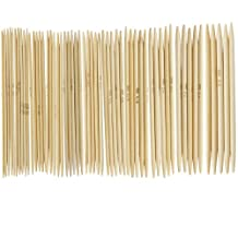 "11 x 5cps 4.9"" Bamboo Knitting Needles Double Pointed 2.0--5.0mm US 0-8"
