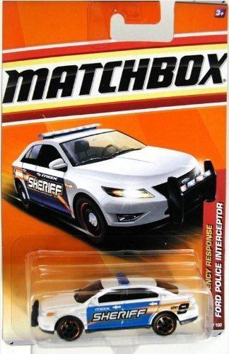 (Matchbox 2011 Emergency Response Ford Taurus Police Interceptor Sheriff White)