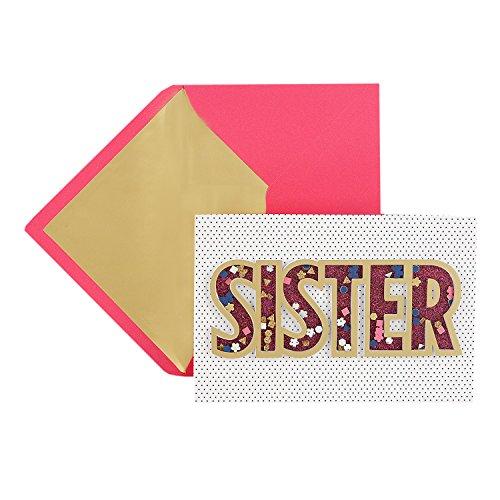 - Hallmark Signature Birthday Greeting Card for Sister (Confetti Shaker)