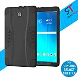 Galaxy Tab E 9.6 Case, Rome Tech Full-Body Heavy Duty Rugged Protective Case with Built-in Screen Protector & Dual Layer Design for Samsung Galaxy Tab E 9.6 - Black