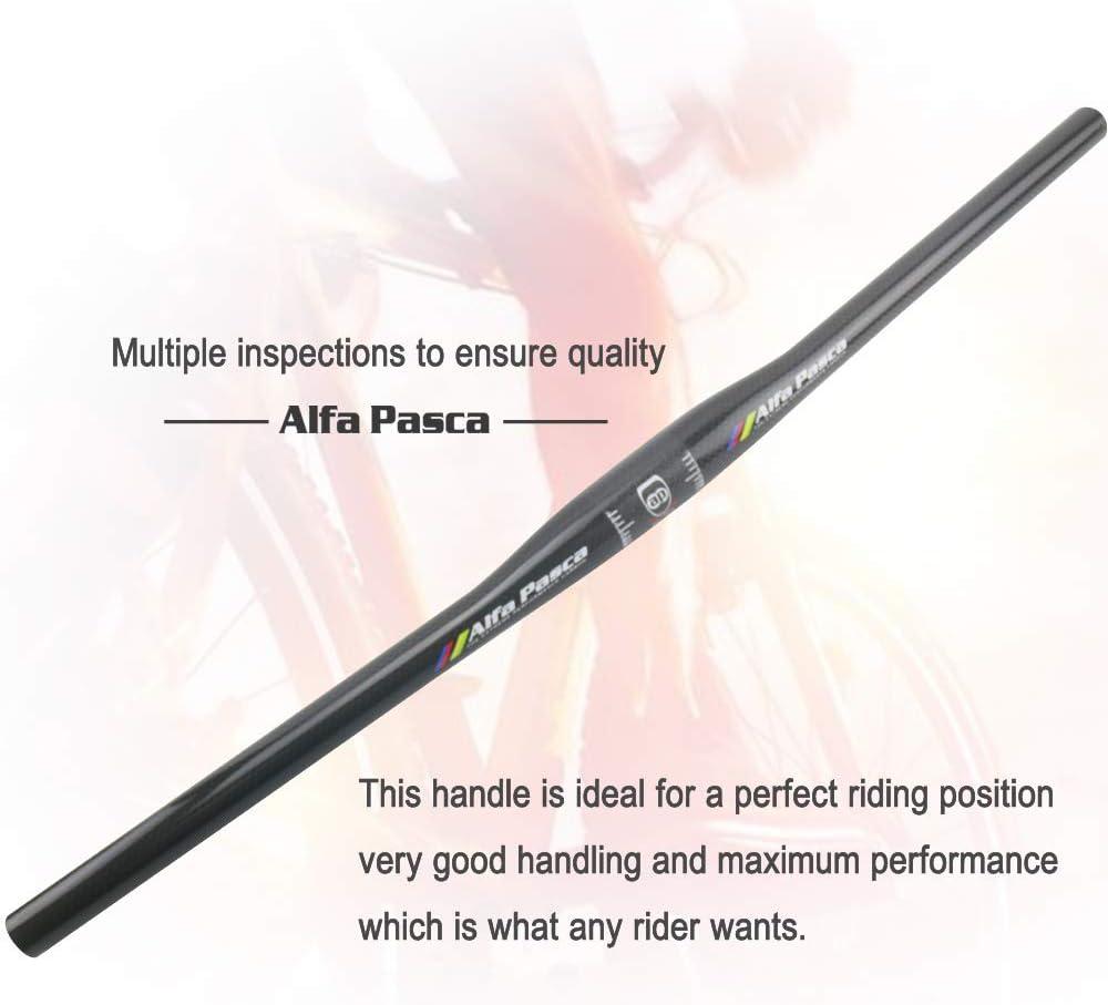 Alfa Pasca Bicycle Handlebars Riser MTB Bike Handle Bar 3K Glossy//Matte 31.8 580//600//620//640//660//680//700//720//740//760 Flat//Riser Carbon MTB Handlebar