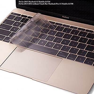 """DHZ New Arrival Ultra Thin Keyboard Cover Silicone Skin for MacBook Air 13"""" MacBook Pro All 13"""" 15"""" 17"""" Inch (with or w/out Retina Display) and iMac Wireless Keyboard"""