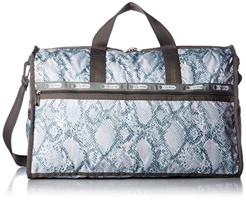 LeSportsac Large Weekender Bag, Aqua Snake, One Size
