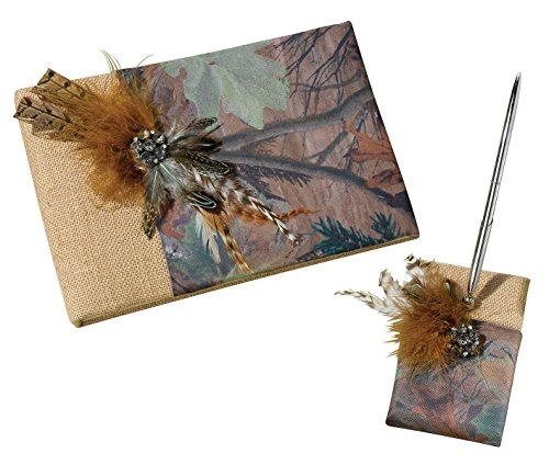Lillian Rose Rustic Camouflage Wedding Guest Book Pen Set -