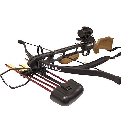 SAS Jaguar 175lbs Recurve Hunting Crossbow Red Dot Scope Package