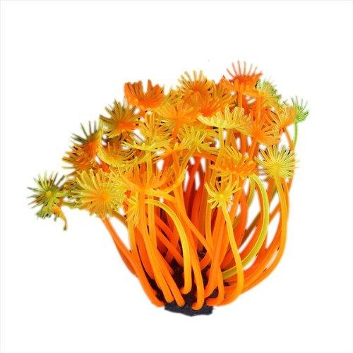 Corail Artificiel Orange En Plastique Décoration Aquarium 4cm Sunluxy Mall