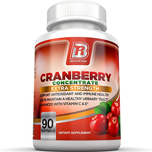 100% Natural 200 Tabs (BRI Nutrition 3x Strength 12,600mg CranGel Power Plus: High Potency, Maximum Strength Cranberry SoftGel Capsules With 12,600 Grams Equivalent of Cranberries Fortified with Vitamins C and Natural E - 90)