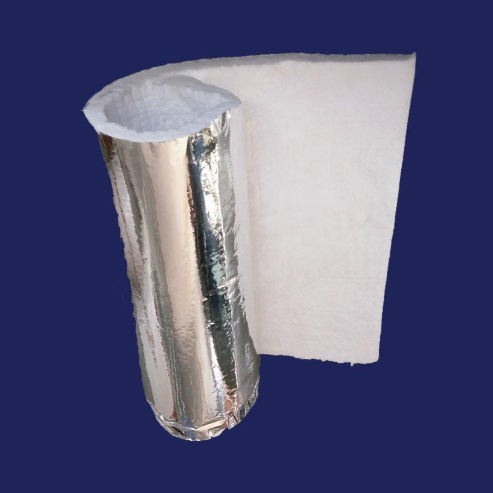 1'' Aluminium Foil Faced Ceramic Fiber Blanket Insulation 6# 2300F 24'' x 3'