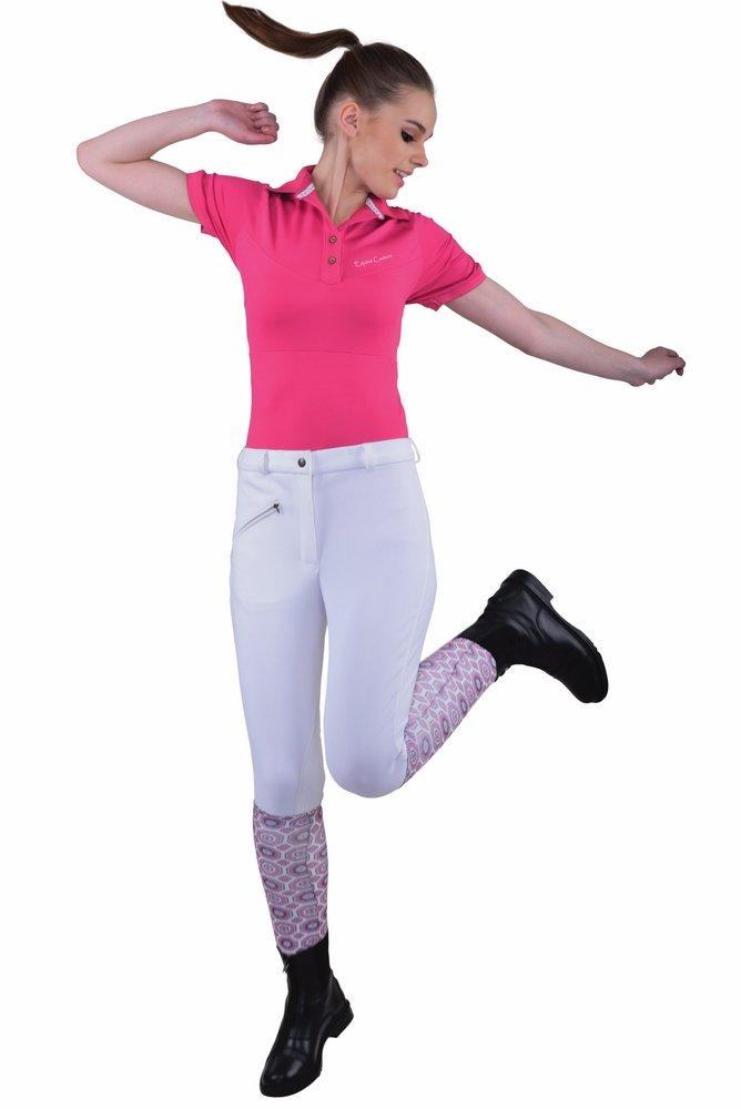 TuffRider Women's Ribb Knee Patch Breeches (Regular), White, 24
