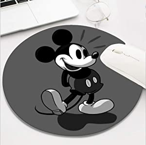 Gaming Mouse Pad Waterproof Mousepads for Laptop Desktop Computer,Size 9.6 X 8 INCH - Disney Mickey Mouse White Black