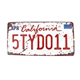 6x12 Inches Vintage Feel Rustic Home,bathroom and Bar Wall Decor Car Vehicle License Plate Souvenir Metal Tin Sign Plaque (CA California 5TYD011)
