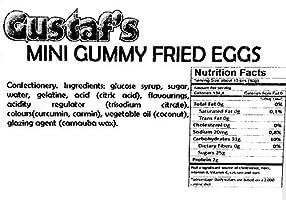 Amazon com : Gustaf's Mini Gummy Fried Eggs | Lemon Flavored