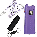 Multi Guard College Safety Bundle: Safety Technology Pink 20 MIL Stun Gun, Sabre Campus Pepper Gel and a 36 Inch Lanyard - Lot of 3 as Shown PURPLE