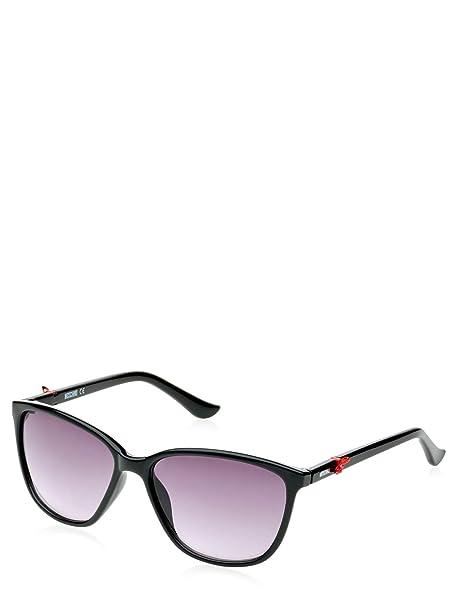 Amazon.com: Moschino anteojos de sol mo650 01S acetato Negro ...