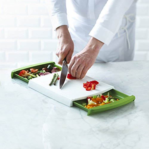 Chop and Clear Cutting Board with Removable Drawers