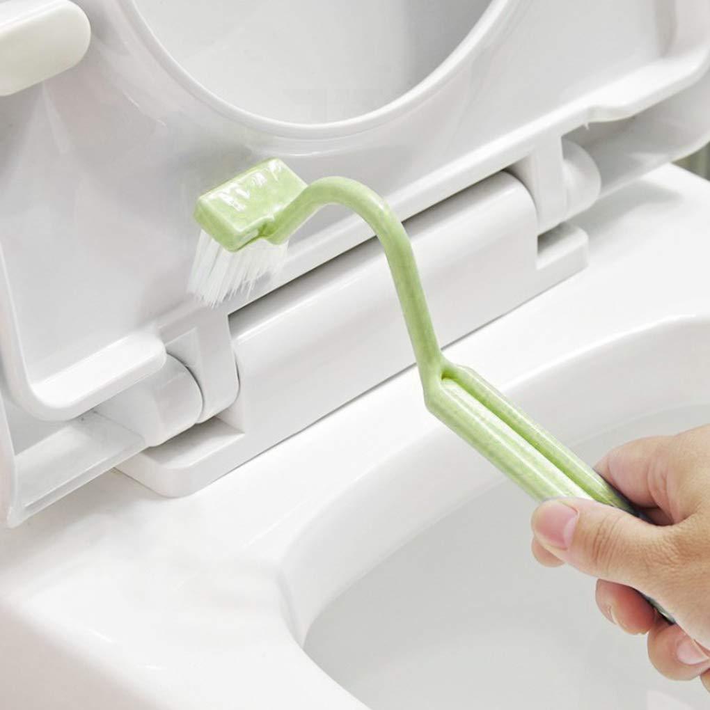 Kineca S Forme Toilette Brosse de Nettoyage WC Portable Scrubber Courbe Propre Bending poign/ée lat/érale dangle Outil de Nettoyage Brosse