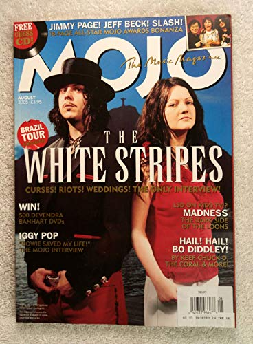 Jack White & Meg White - The White Stripes - The Only Interview! - Mojo Magazine - Issue #141 - August 2005 - Iggy Pop Interview, Madness, Bo Diddley articles