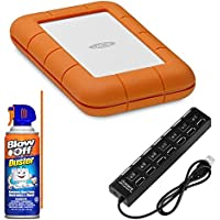 LaCie 4TB Rugged Thunderbolt / USB-C Mobile HDD Bundle