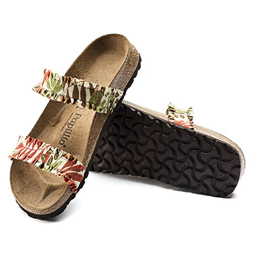Papillio Women's Fashion Sandals FLOWER FRILL BROWN kzuIwxJCiw