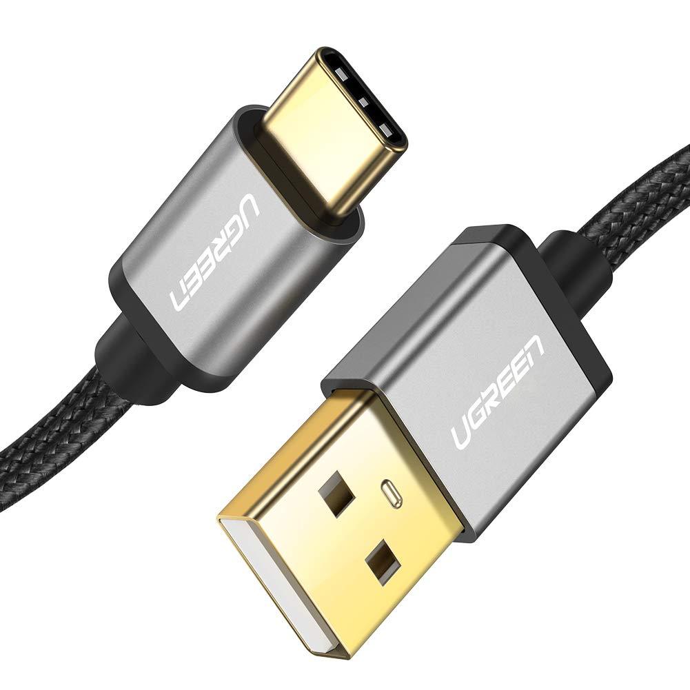 UGREEN Cable USB C, Cable USB Tipo C a USB A 2.0 Nylon Trenzado Carga