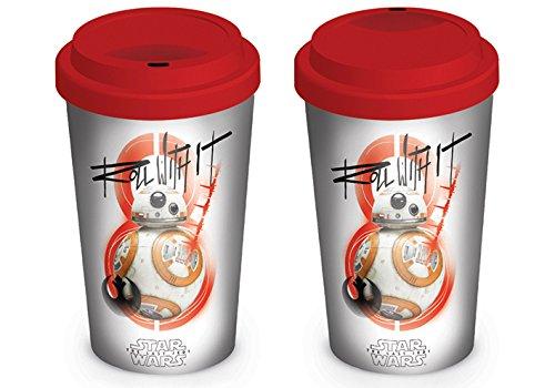 Pyramid International Star Wars The Last Jedi (BB-8 Roll with It) Official Boxed Ceramic Coffee/Tea Mug, 12 x 12 x 1.3 cm, Multi-Colour