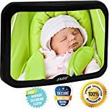 Baby Mirror for Car – Largest Backseat Mirror for Rear Facing Infant