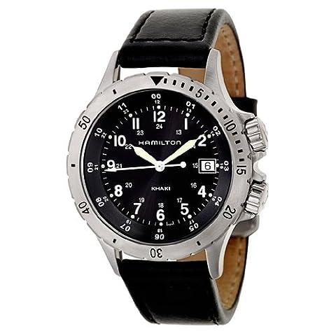 Hamilton Men's H74451833 Khaki Field Analog Display Swiss Quartz Black Watch (Hamilton Khaki Field Automatic)