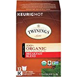 Twinings of London Organic and Fair Trade Certified Breakfast Blend Tea K-Cups for Keurig, 12 Count