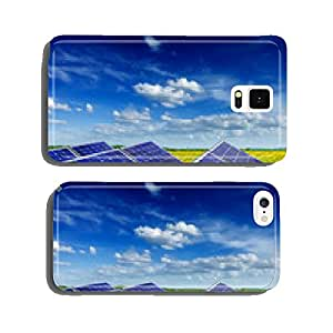 Solar battery panels in rural meadow field cell phone cover case iPhone5