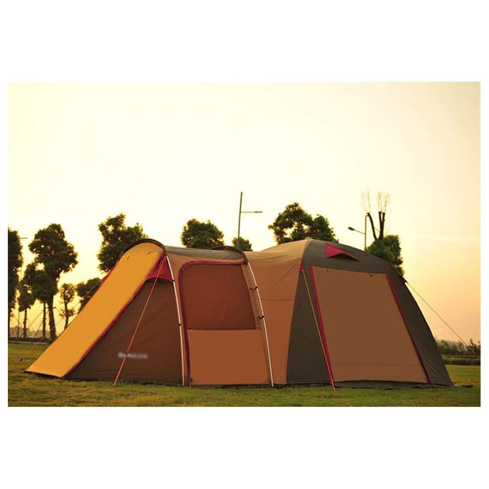 Zelt, Outdoor-Selbstfahrer-Campingzelte 5-8 Personen EIN Zimmer und EIN Wohnzimmer Familie Luxus-Ultralarge Zelt
