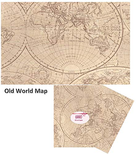 """Tissue Paper with Designs Printed Tissue Paper for Gift Wrapping 24 Decorative Sheets 20"""" X 30"""" (Old World MAP) from GBBD"""