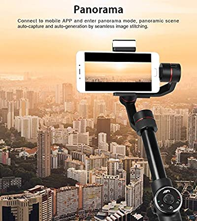 Durable Support Face Tracking Black JINGZ AFI V5 Smooth 3-Axis Handheld Aluminum Brushless Gimbal Stabilizer with Tripod Mount /& Fill Light for Smartphones Within 6 inch Color : Black