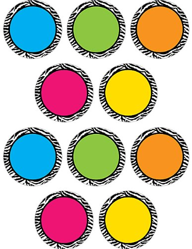 Teacher Created Resources Zebra Colorful Circles - Zebra Circle