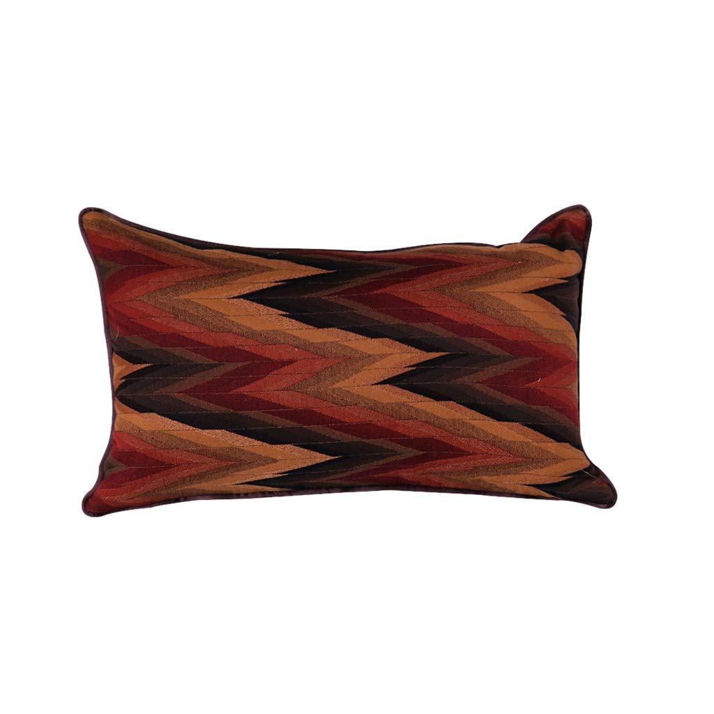 DUHUI Nordischen Stil Wohnzimmer Sofa Baumwolle und Leinen Kissen Einfache Moderne Mischfarbe Kissen Wellenmuster Kissen (Farbe : B, größe : 30x50cm)