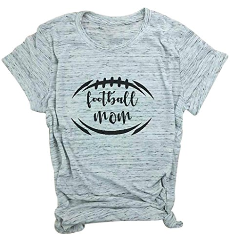 Tee Soccer Graphic Short Sleeve (DUTUT Football Mom T-Shirt Women's Casual Short Sleeve Soccer Mom Sports Shirts Tops Size S (White))
