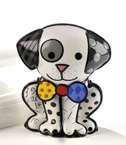 - Romero Britto Dalmatian Dog Ceramic Sculpture Gift Ltd Sculpture Figurine Art !!