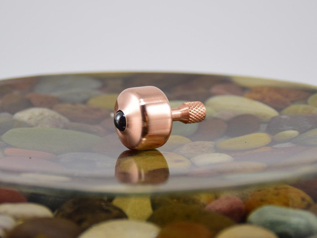 Jefferson COPPER Spinning Top - Precision CNC Made in the USA by NW TOPS (Image #1)