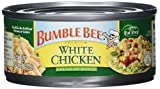 BUMBLE BEE Premium White Chicken in Water, High Protein Food, Keto Food and Snacks, Gluten Free Food, High Protein Snacks, Bulk Canned Chicken Breast in Water, Canned Meat, 5 Ounce Cans (Pack of 24) For Sale