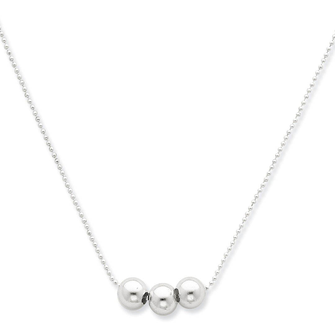 ICE CARATS 925 Sterling Silver 3 Bead Chain Necklace Pendant Charm Station Fine Jewelry Ideal Gifts For Women Gift Set From Heart