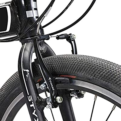 Long Arm 110mm CNC V Brake Set Black Bicycle Linear Pull V Brakes for Front//Rear Wheel