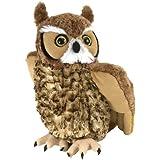 Wild Republic Great Horned Owl Plush, Stuffed Animal, Plush Toy, Gifts for Kids, Cuddlekins 12 Inches