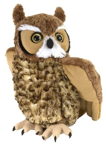 Wild Republic Great Horned Owl Plush, Stuffed Animal, Plush Toy, Kids Gifts, Cuddlekins 12""